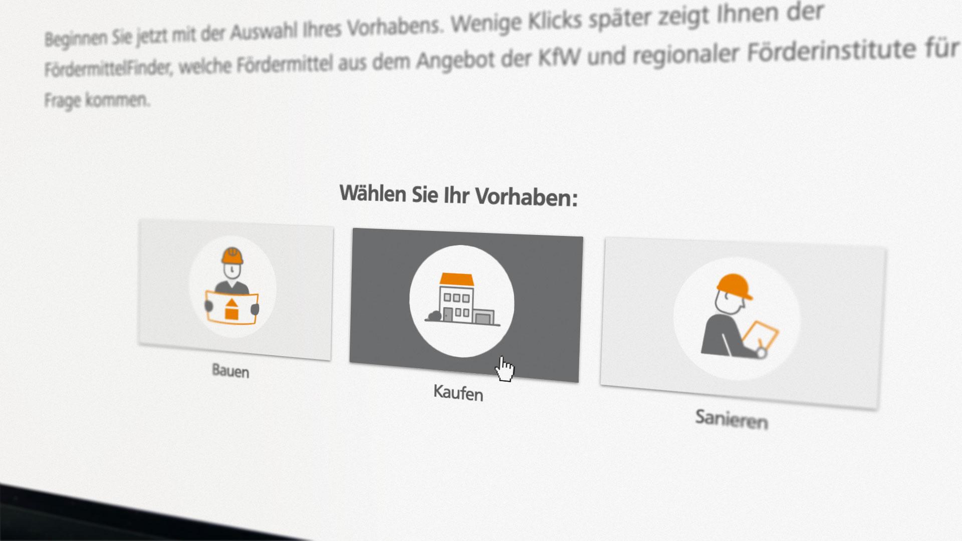 Fördermittel-Finder auf der Webseite der FörderWelt