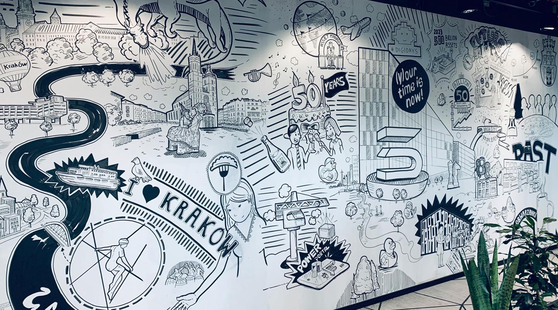 Wallsketch für einen Kunden in Krakau