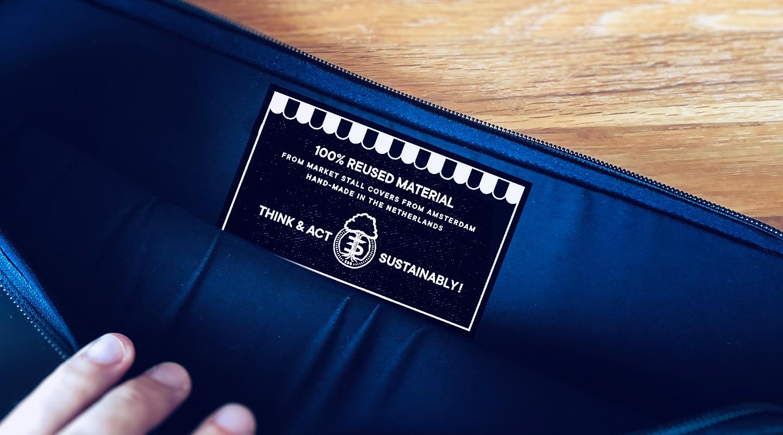 Nachhaltige Laptop-Tasche für einen Kunden