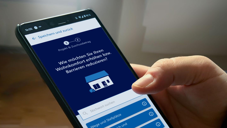 Smartphone optimierte Anwendung des ZuschussGuides